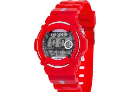 FC Bayern München Digitaluhr / Uhr (22716) rot