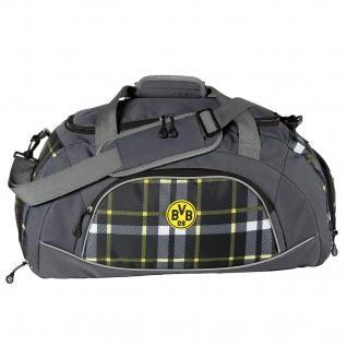 BVB Borussia Dortmund Sporttasche kariert 16420600