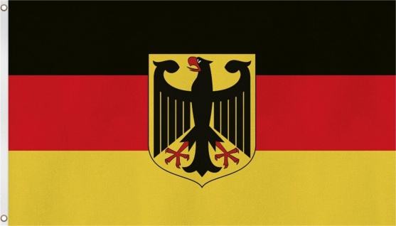 Deutschland Hissfahne/ Hissflagge 150x90 cm (Fahne) (2 Ösen) BRD Adler