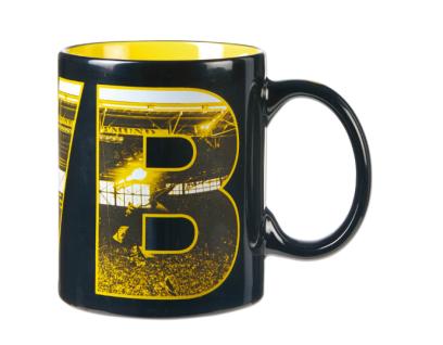 BVB-Borussia Dortmund Tasse / Becher / Kaffeetasse *** Fahnenmeer ***