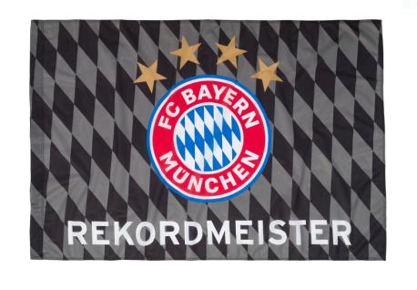 FC Bayern München Hissfahne / Fahne ***Rekordmeister *** 150x100 cm (2 Ösen)