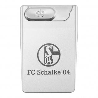 FC Schalke 04 Feuerzeug / Sturmfeuerzeug ** USB Card Lighter ** silber