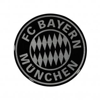 FC Bayern München 3D Aufkleber Logo (Autoaufkleber / Sticker ) silber