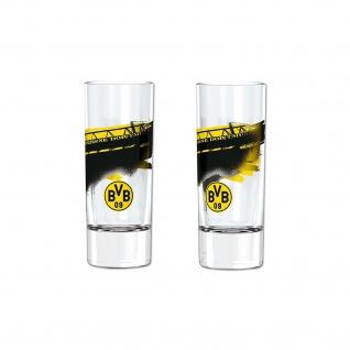 "BVB Borussia Dortmund Schnapsglas 2er Set "" Südtribüne """