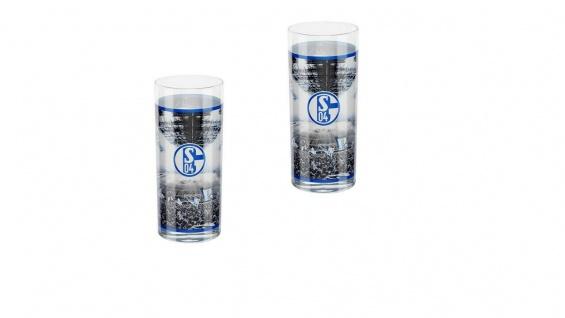 FC Schalke 04 Trinkglas / Wasserglas / Glas 2 er Set ** Stadion ** 11413