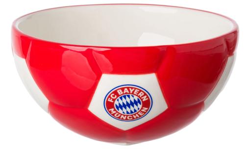 FC Bayern München Frühstücksschüssel / Müslischale ** Fussball-Optik ** 23125