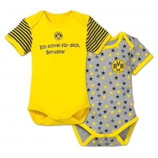 """BVB Borussia Dortmund Babybody / Body """" Ich schrei für dich... """" 2 er Set"""