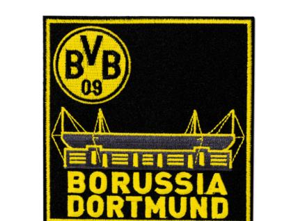 """BVB Borussia Dortmund Aufnäher / Aufbügler """" BORUSSIA DORTMUND """" Stickabzeichen"""