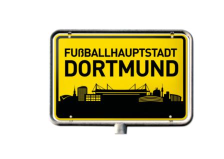 """BVB Borussia Dortmund Aufkleber """" FUßBALLHAUPTSTADT DORTMUND """" Autoaufkleber"""