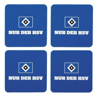 HSV Hamburger Sportverein Untersetzer Silikon 4er Set