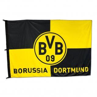 """BVB Borussia Dortmund Hissfahne / Fahne / Flagge """" Karo """" 120x 180 cm"""