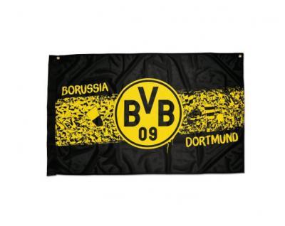 "BVB Borussia Dortmund Hissfahne / Fahne / Flagge "" Südtribüne "" (2 Ösen )"
