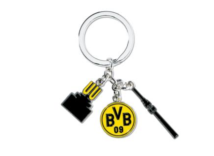 BVB Borussia Dortmund Charms Schlüsselanhänger / Schlüsselbund