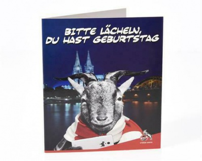 1. FC Köln Grusskarte / Karte *** Bitte lächeln *** 4090082