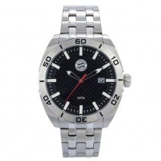 Fc Bayern München Uhr / Armbanduhr / Herrenuhr ** silber ** 21778