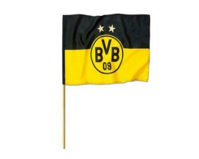 "BVB Fahne Borussia Dortmund /""EMBLEM/"" 2 Sterne 40 x 60 NEU"