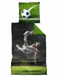 Fußball Bettwäsche *** Rückzieher *** 135x200cm / 80 x 80 cm WM