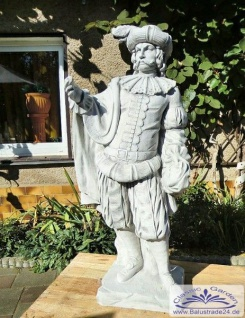 SRS101024 Gartenfigur Edelmann Skulptur Statue Figur Burgherr Parkfigur 141cm 242kg - Vorschau 5
