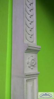 KP-1105 Umgebinde Haus Säule mit schmuckvollem Sockel und Kapitell aus Kunststein 280cm 210kg