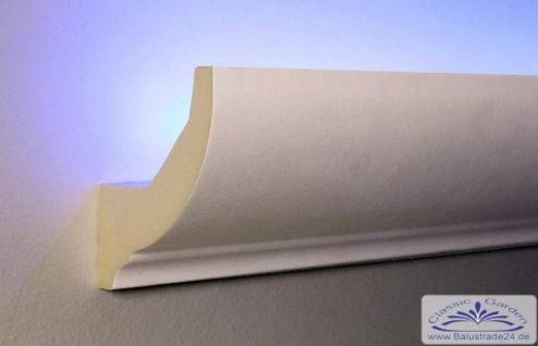 HX-LED-1 Lichtleiste für LED Beleuchtung aus PU Hartschaum 80x70mm Wandleiste 200cm