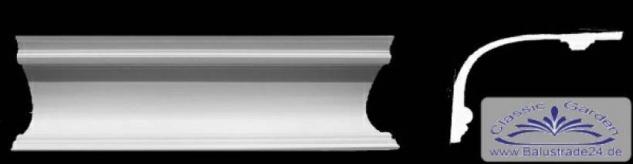 Eckprofil C-36 Gipsstuck Eckgesims 160x250mm Stuckleiste Gips Kehlenprofil aus Stuck 330cm