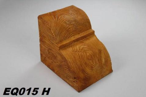 HX-EQ015H Konsole für Deckenbalken aus leichtem Polyurethan Hartschaum als rustikale Innendekoration 190x170x230mm Preis je Stück