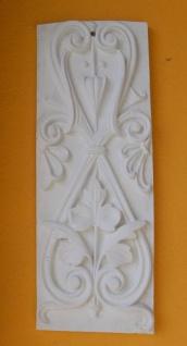 BD-9047 Stuck Wandfries Schmuckplatte als Fassadenstuck Schmuckplatte aus weissem Beton aus der Serie rustikaler Gipsstuck 52x19cm