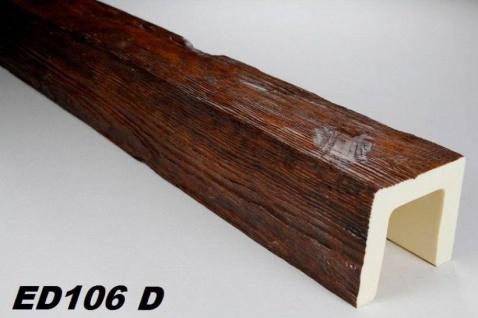 HX-ED106D Deckenbalken aus leichtem Polyurethan Hartschaum als rustikale Innendekoration 120x120mm Preis je Stück