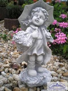 SA-N475 Kleine Kinder Gartenfigur Mädchen Emma mit Schirm 40cm 7kg - Vorschau 5