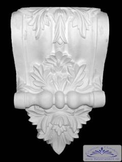 ED-24 Wand Stuckkonsole aus Gips Zierstuck Konsole Akanthusblattdekor Stuck Dekor 420x250mm