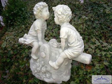 SA-N519 Kinder auf Wippe Schaukel Kinderfigur Gartendeko Figur 38cm 15kg - Vorschau 5