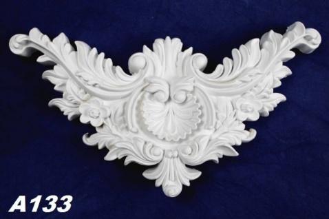HX-A133 Universelles Wand und Deckenstuck Ornament als Innenstuck Stuckdekor Ornament Zierelement aus PU Hartschaum 155x295mm 1 Stück