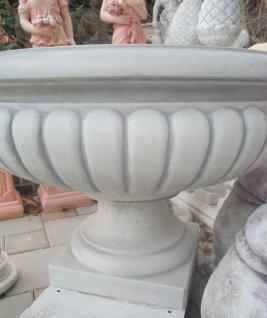 KP-0606 Gartenbrunnen als Standbrunnen mit großer Brunnen Wasserschale und Figur mit Fisch als Wasserspeier 115cm 333kg - Vorschau 5