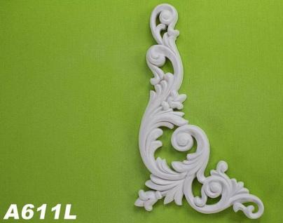 HX-A611L Universelles Wand und Decken Zierstuck Element als Innenstuck Zierelement aus PU Hartschaum 260x126mm 1 Stück