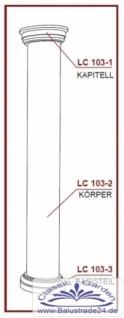 LC103-2H Halbsäule glatt mit 405mm Durchmesser 200cm Halbschalen Styroporsäule für Haus Garten Eingang Verkleidung - Vorschau 4