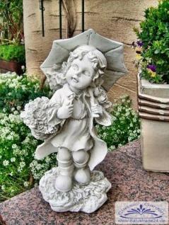 SA-N475 Kleine Kinder Gartenfigur Mädchen Emma mit Schirm 40cm 7kg - Vorschau 4