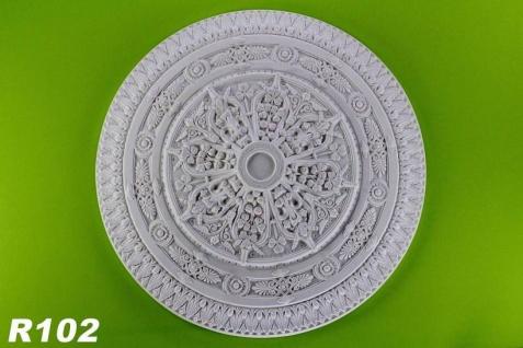 R102 Große Decken filigrane Kronleuchter Stuckrosette aus Polyurethan Hartschaum mit weißer Oberfläche 96cm