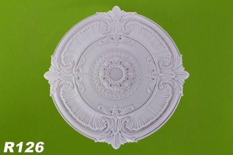 R126 Grosse Zierstuck Deckenrosette aus Polyurethan Hartschaum mit weißer Oberfläche 101cm