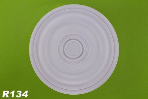 R134 Deckenrosette aus Polyurethan Hartschaum mit glatter weißer Oberfläche 40cm