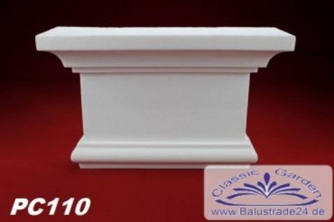 PC110 Pilaster Kapitell für Pilastersäulen Breite 255mm Styropor Fassadenstuck