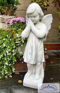 BAD-4109 Gartenfigur Engelfigur betender Engel Gartendeko Figur 55cm 11kg Beton Steinguss Figur
