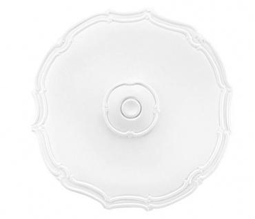 R113 Decken Stuckrosette aus Polyurethan Hartschaum mit weißer Oberfläche 40cm