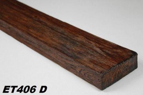 HX-ET406D Brett als Decken- und Wandbrett mit Holzimitat aus leichtem Polyurethan Hartschaum als rustikale Innendekoration 120x35mm Preis je Stück