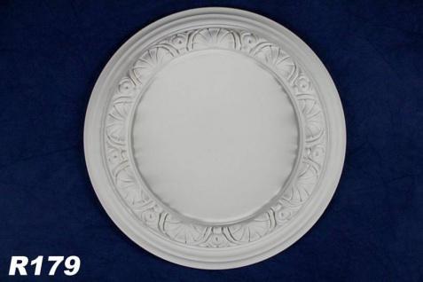 R179 Zierstuck Deckenrosette aus Polyurethan Hartschaum mit weißer Oberfläche 32cm
