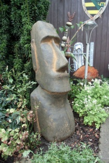 BAD-10114 Moai Skulptur Osterinsel Figur Rapa Nui Tiki Steinfigur braun 76cm 70kg Beton Steinguss