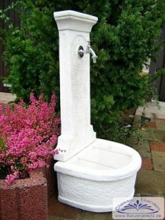 Cg wandbrunnen kreta weiss als garten wasserzapfstelle aus - Garten wandbrunnen ...