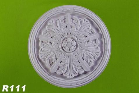 R112 Decken Stuckrosette aus Polyurethan Hartschaum mit weißer Oberfläche 40cm