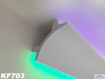 HX-KF703 Lichtleiste für indirekte LED Beleuchtung aus PU Hartschaum 90x90mm 1Meter