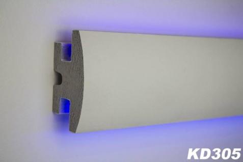 HX-KD305 Lichtleiste für indirekte LED Beleuchtung aus XPS 90x50mm Wandleiste 115cm