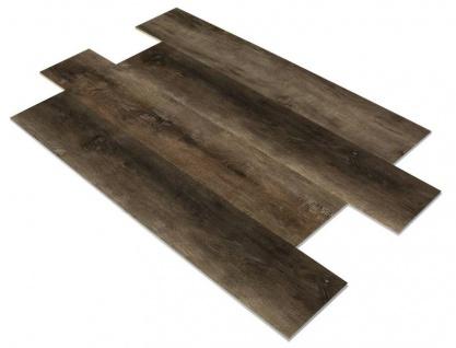 SPC Vinylboden PS16 Bodenbelag auf Vinyl Basis mit 4F Klick System 23x122cm Farbe Braungrau 2, 78QM
